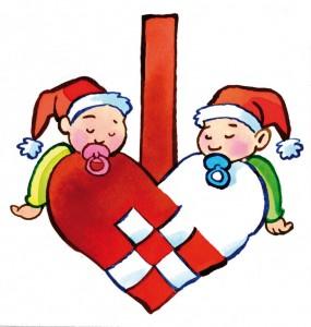 Julemærke 2010 nisser og nissepiger
