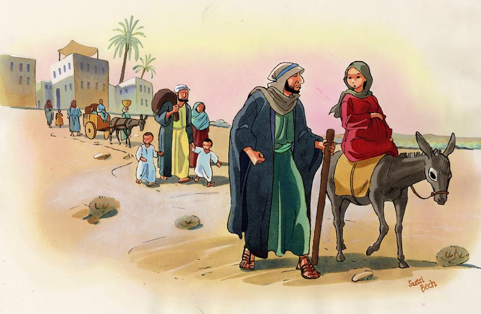 Juleevangeliet: illustrationer til Læs højt om Julen