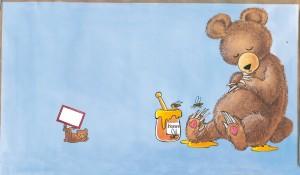 illustrationer til sangbog bjørnen sover