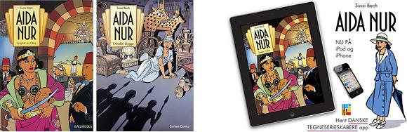 Tegneserier - Aida Nur bind 1 og 2