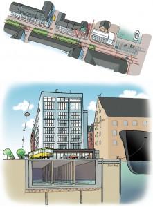 Arkitema: Tegning af regnvands-reservoir