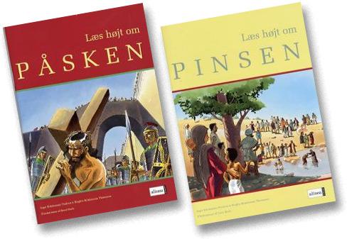 """Billedbøger for børn - """"Læs højt om påsken"""" og """"Læs højt om pinsen""""."""