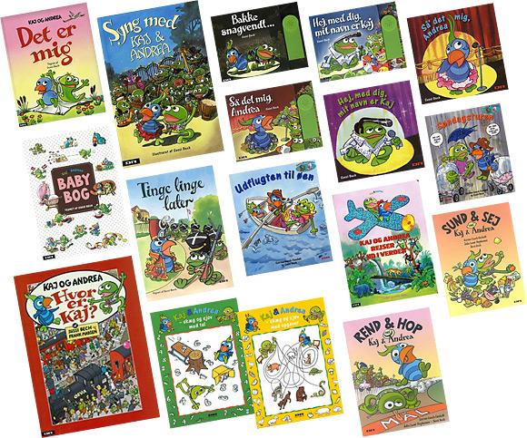 """Børnebøger og papbøger for de mindste - Et lille udvalg af """"Kaj og Andrea"""" bøger illustreret af Sussi Bech."""