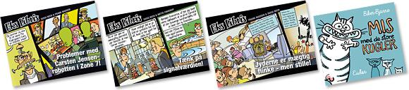 Tegneserier - Eks Libris bind 1-3 og Mis med de Store Kugler