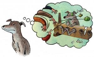 hund-tænkeboble
