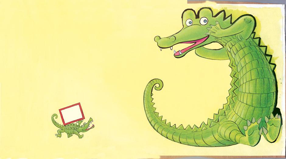 illustrationer til sangbøger hvis du ser en krokodille