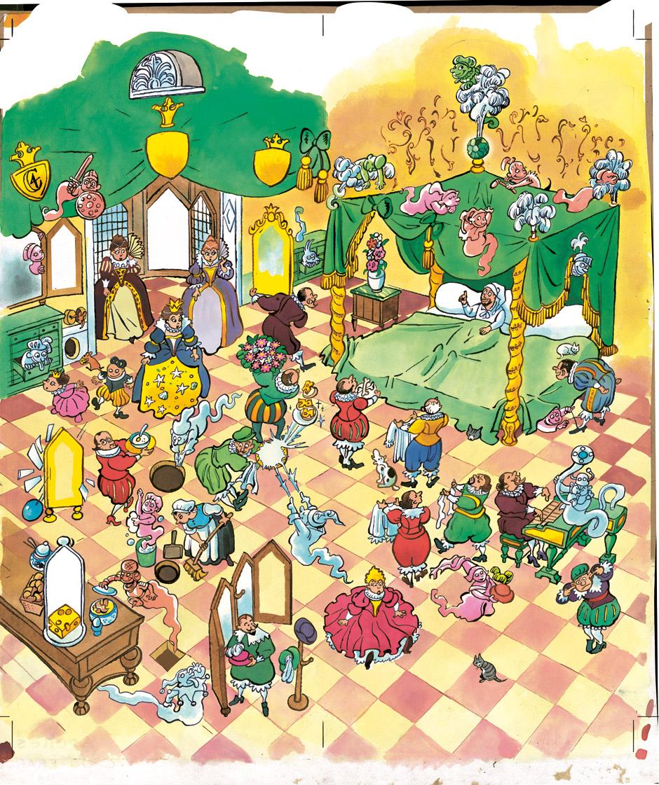 tegninger illustration til billedbog om rundetårn