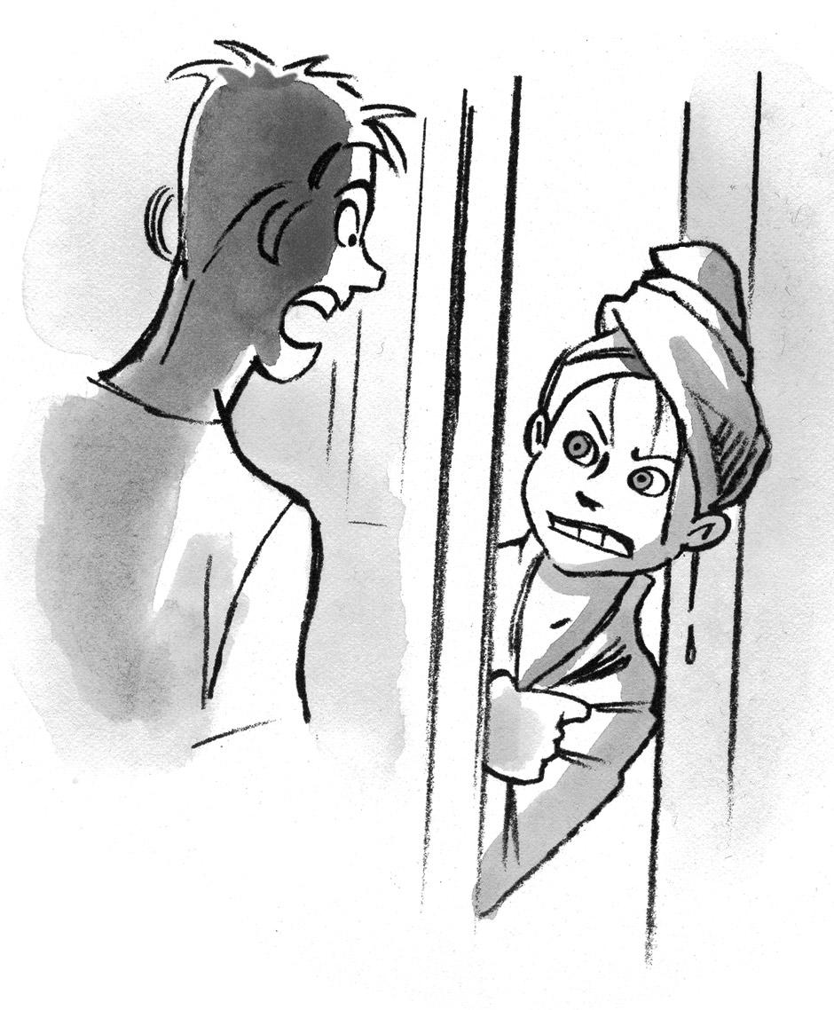 Illustration til ungdomsbog - Sussi Bech