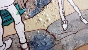 Akvarel Graniteffekt med groft salt
