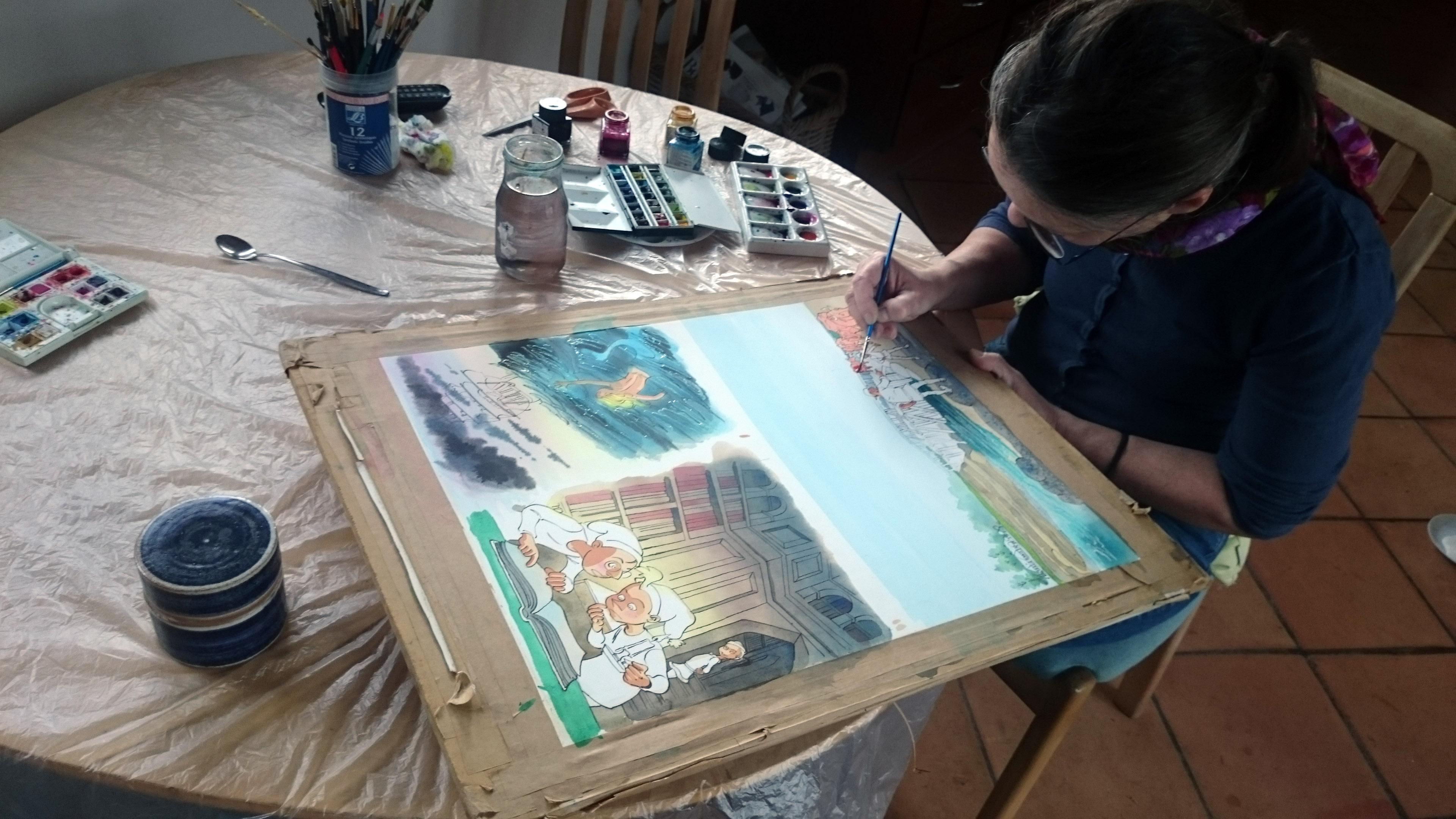 Sussi Bech maler akvarel