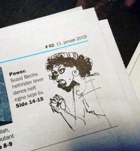 Søren Vinterberg fra Politiken anmelder tegneserier Sussi Bechs Samlede Værker i Weekendavisen