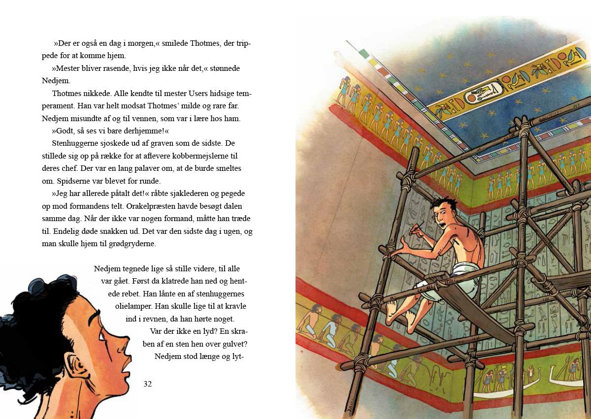 gamle Egypten Gravrøverens lærling thriller børnebog sussi bech
