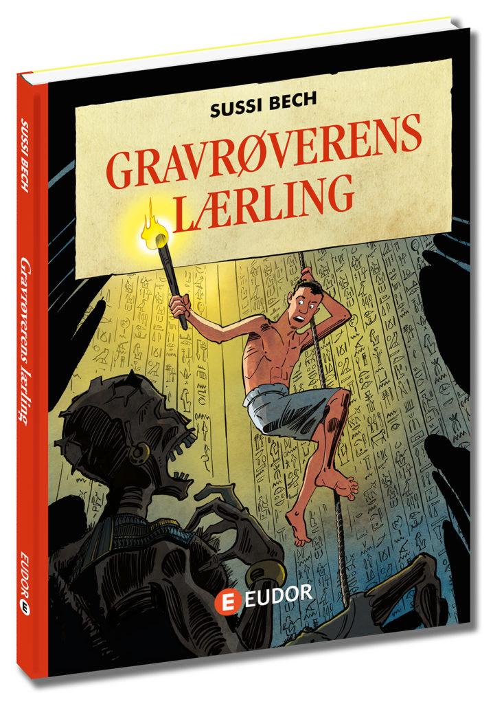 Gravrøverens lærling thriller børnebog af Sussi Bech gamle egypten ramsen 3