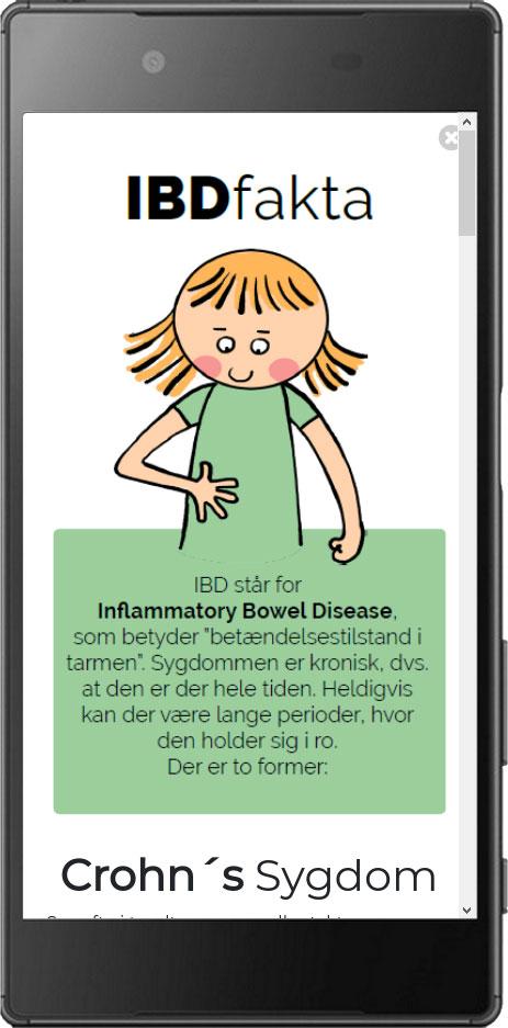 Ung med IBD illustrationer tegninger til app til Hvidovre Hospital