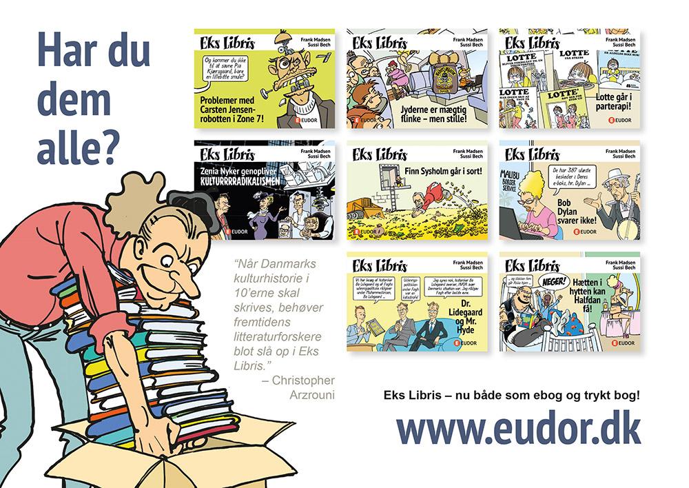 tegneserie tegneserier tegneserien eks libris satire litteratur Finn Sysholm